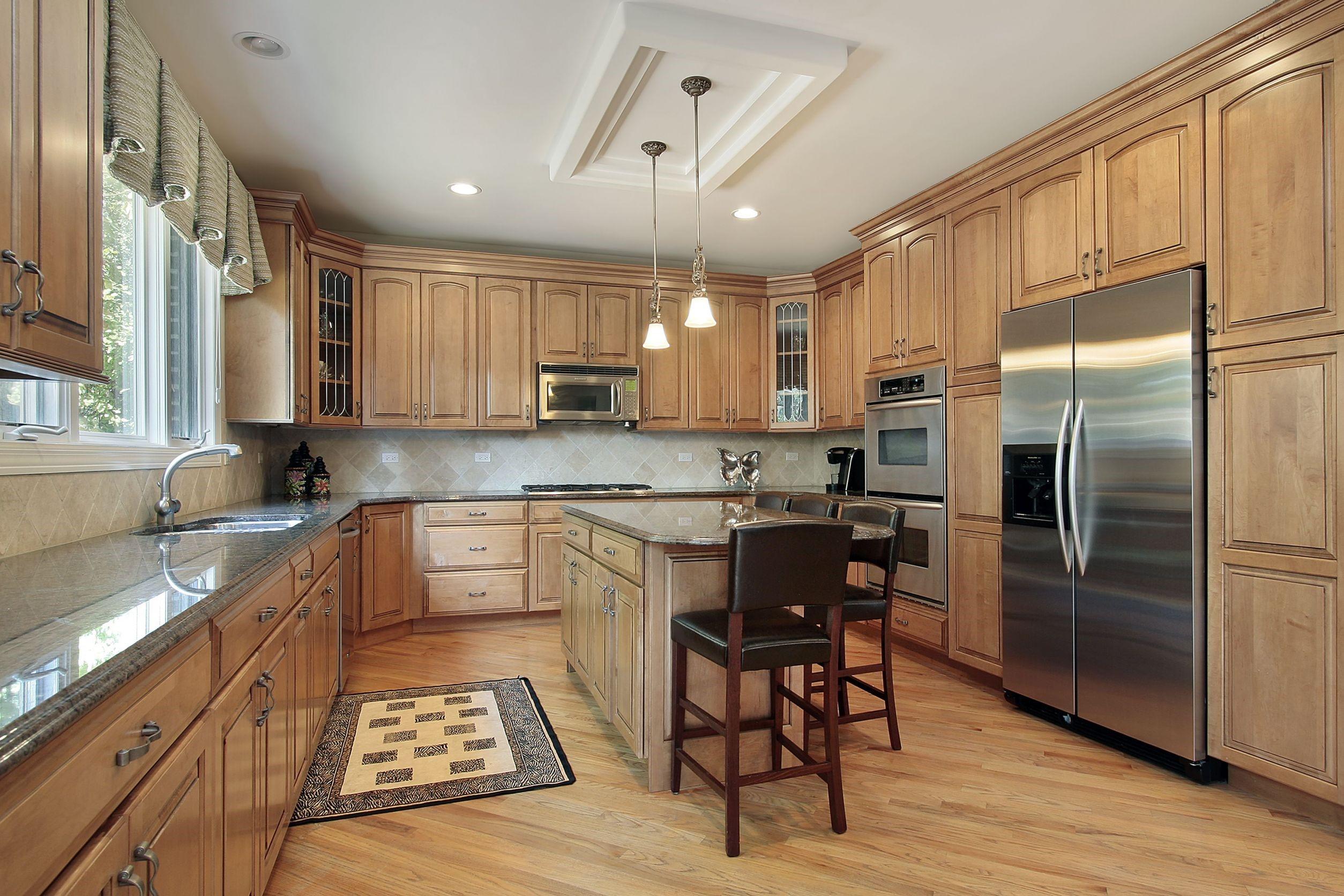 מטבח מעץ מלא דגם עץ בסגנון אמריקאי